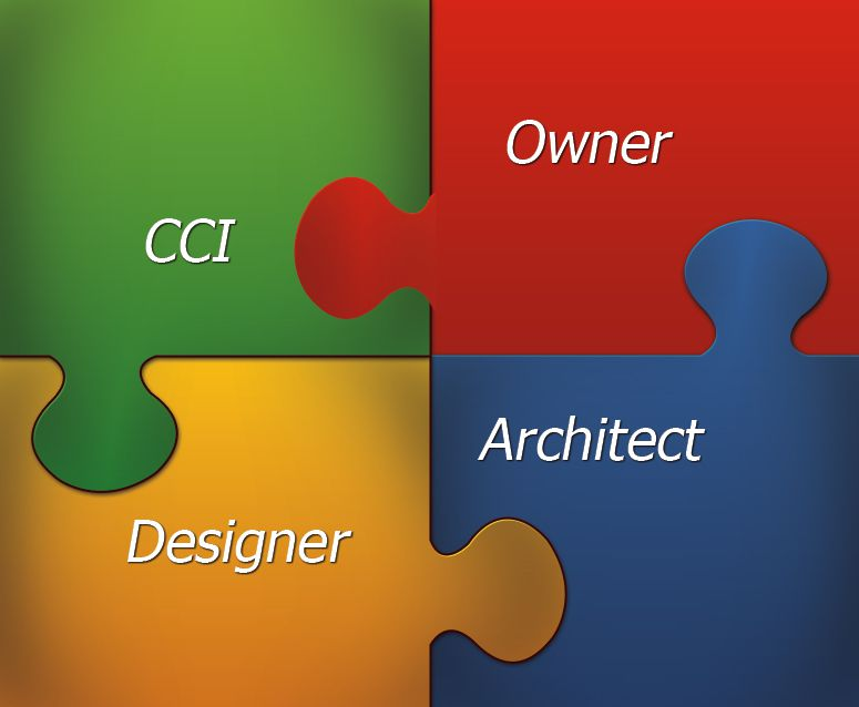 CCI, Owner, Architect, and Designer Puzzle Graphic.